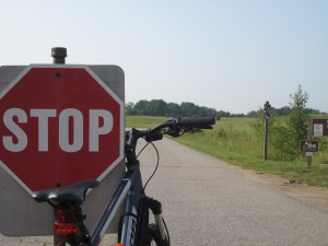 Bike and stop sign